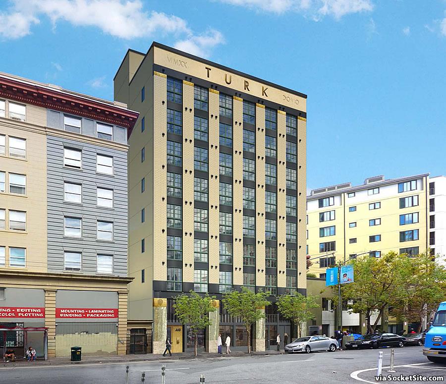 468 Turk Street Rendering - Side