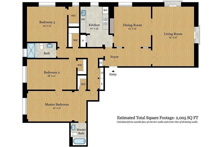 795 Sutter Street #301 - Floor Plan