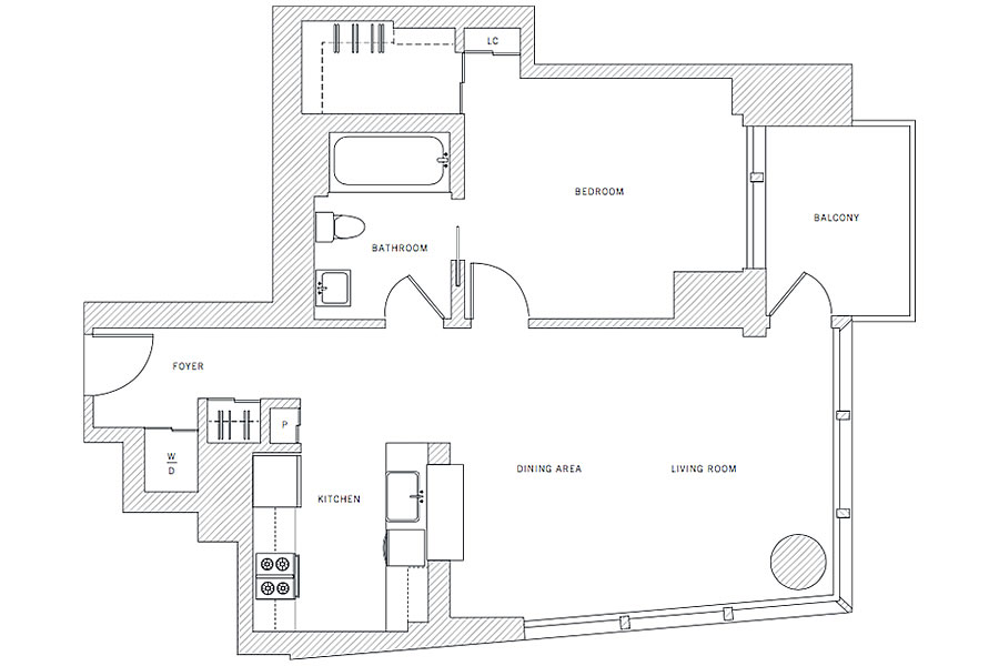 401 Harrison Street #11G - Floor plan