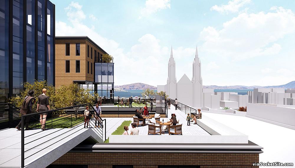 659 Union Street Rendering - Rooftop