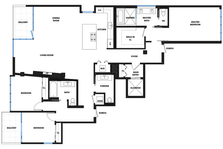 750 Second Street #502 Floor Plan