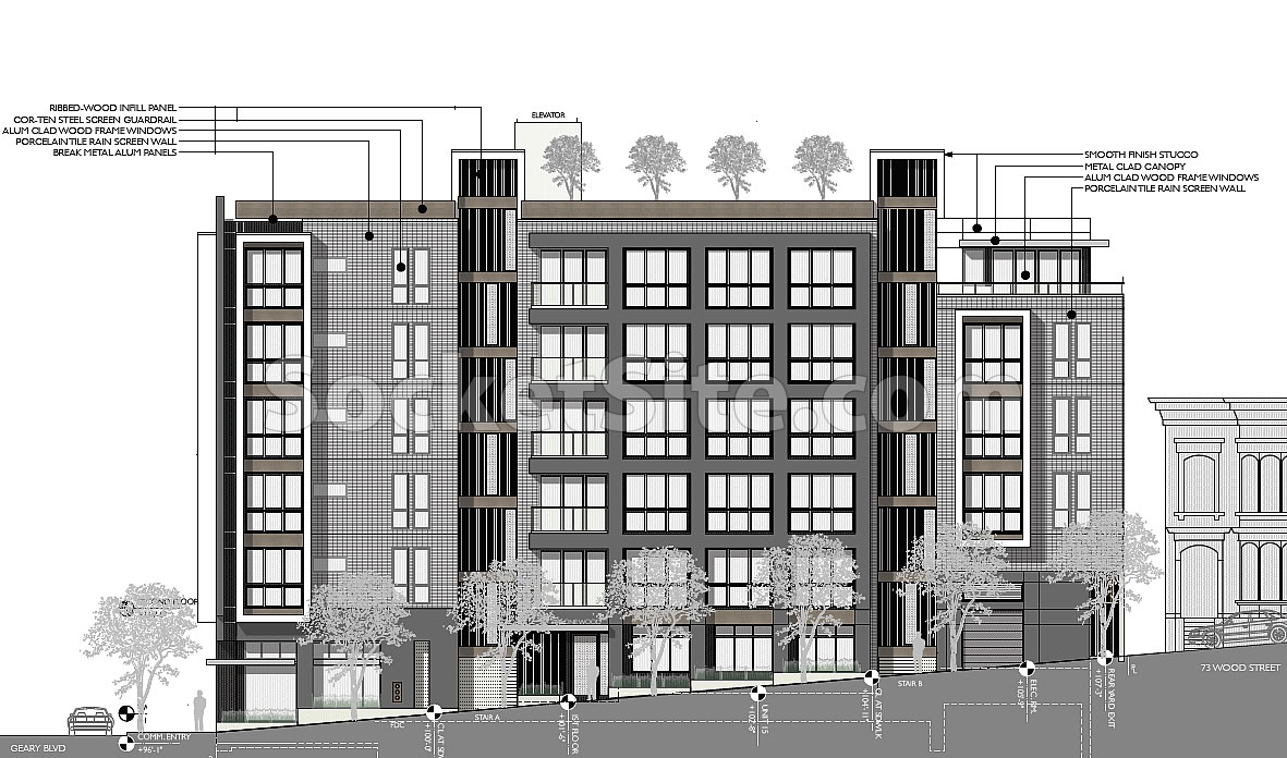 Refined Plans for Building up (On) Geary Boulevard