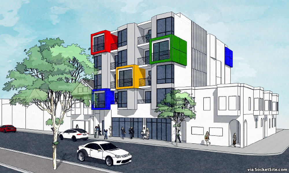 Modern Infill on the Boards: Geary Boulevard Edition