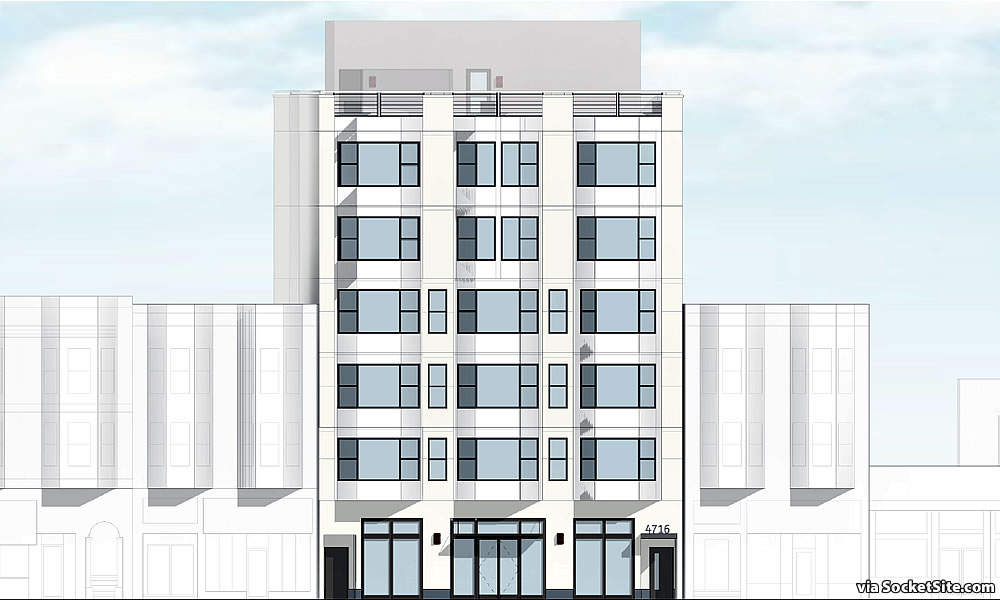 4716-4722 Mission Street Rendering - Facade