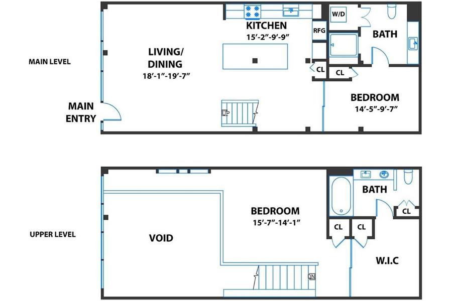 650 Delancey Street #216 - Floor Plan