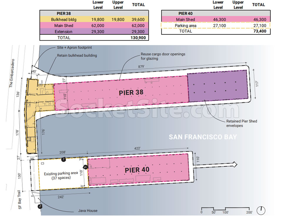 Piers 38 and 40 Site Plan
