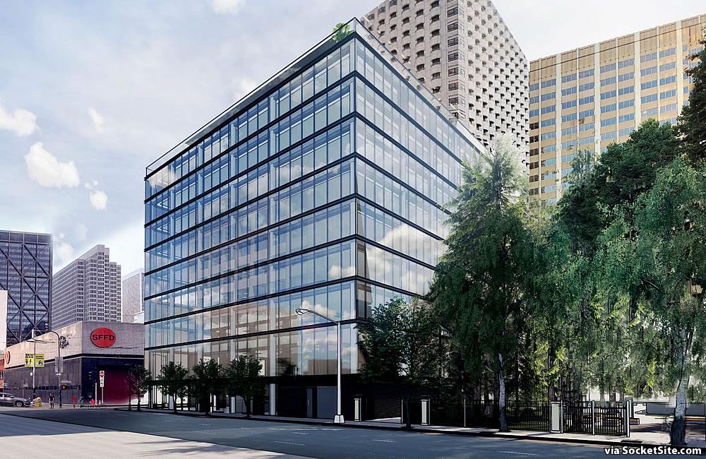 545 Sansome Street Rendering 2020 - Washington Street