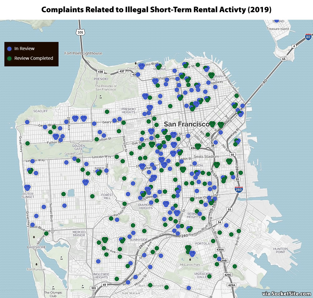 Reports of Illegal Airbnb-ing Back on the Rise in San Francisco