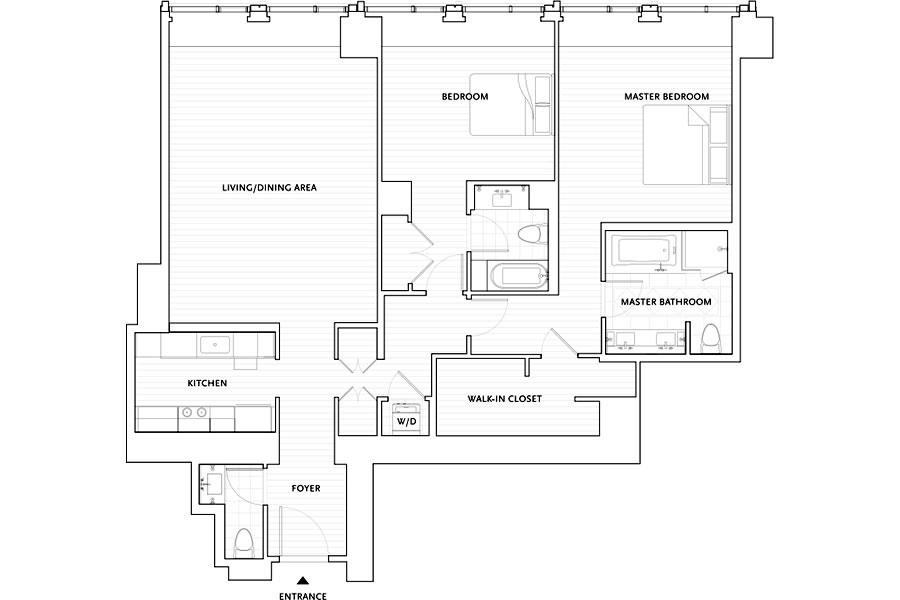 188 Minna Street #27C Floor Plan