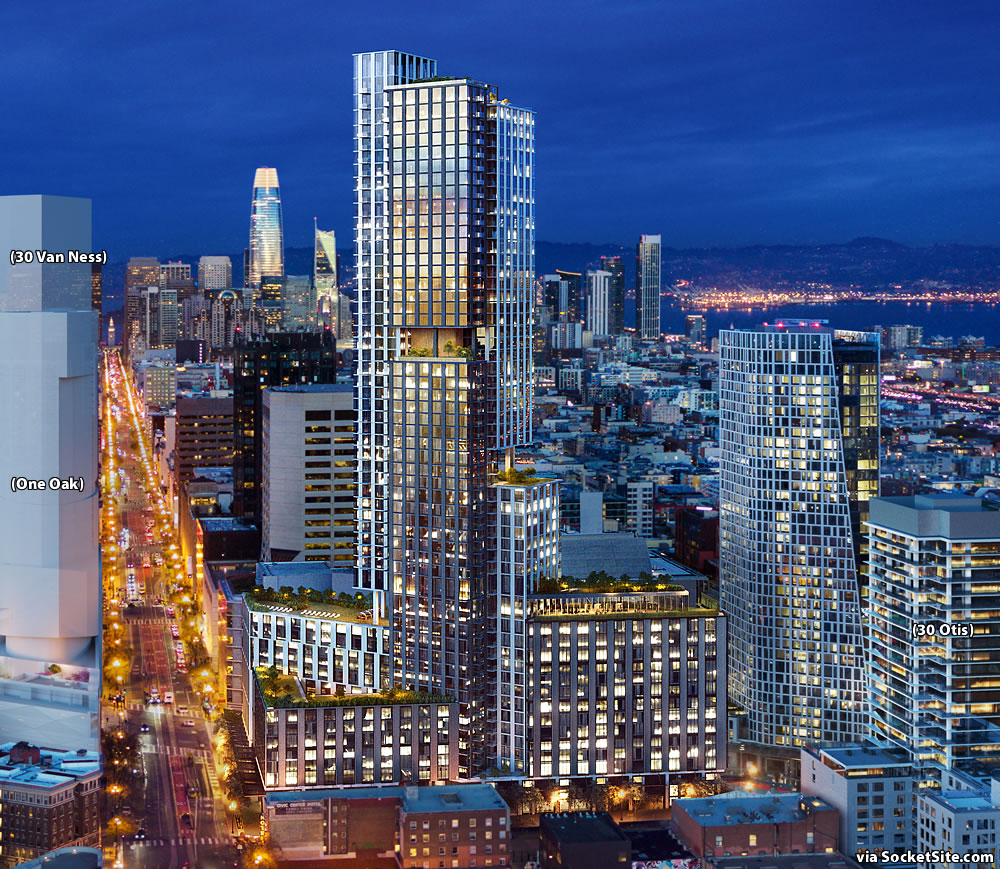 Refined Plans for 966-Unit Hub District Tower Slated for Approval