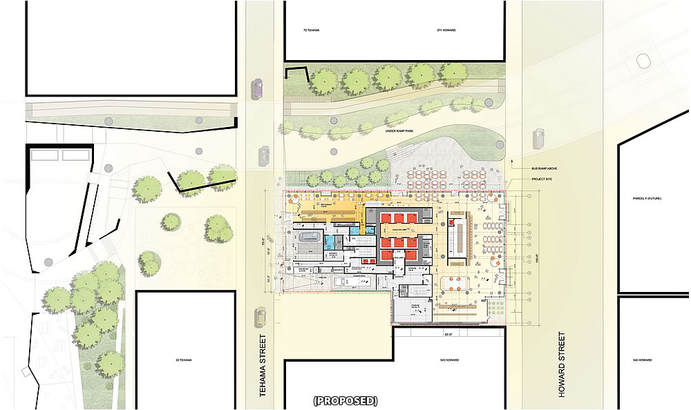 555 Howard Site Plan - Proposed