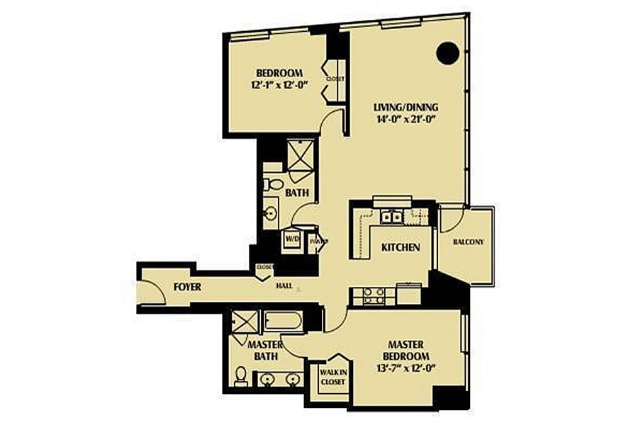 425 1st Street #1902 - Floor Plan