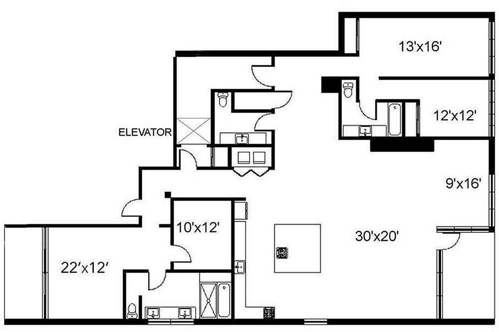 750 Second Street #302 - Floor Plan