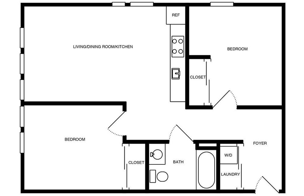 388 Fulton #605 - Floor Plan
