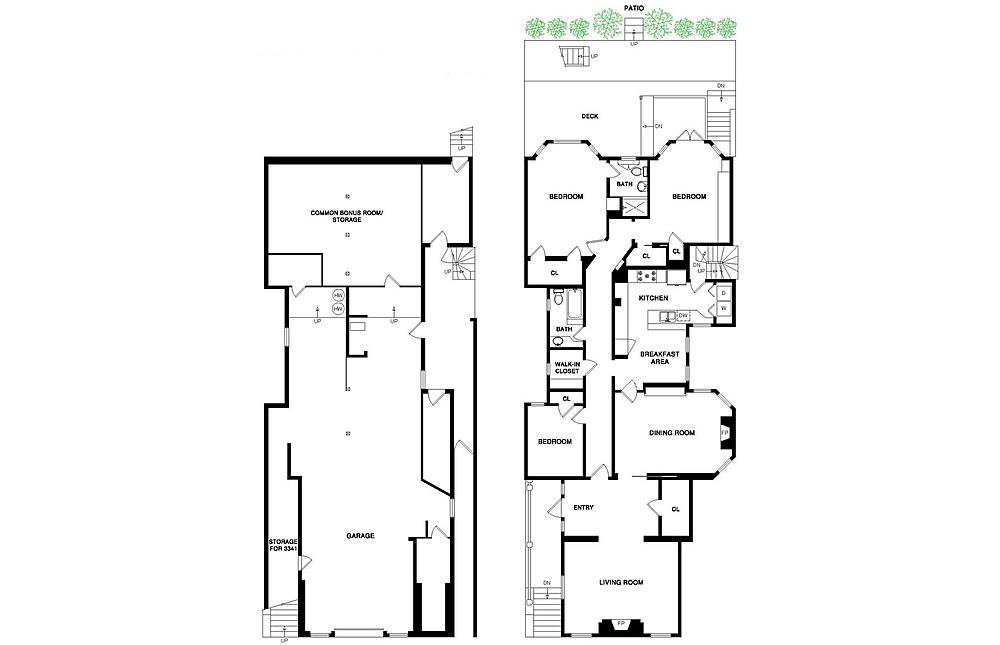 3341 Jackson Street - Floor Plan