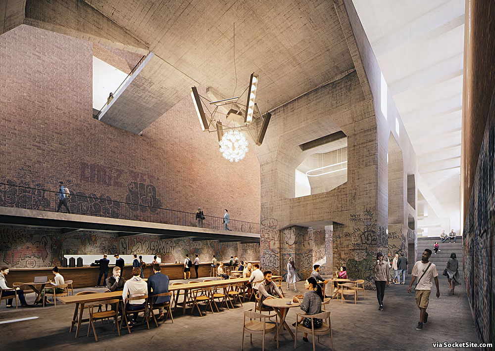 Potrero Power Plant 2020 - Station A Rendering - Sunken Lounge
