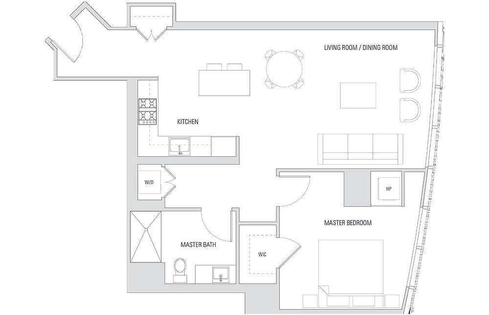 201 Folsom Street #16H - Floor Plan
