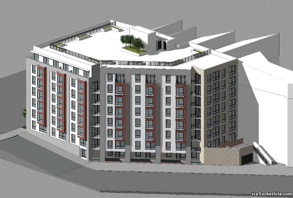 Supersized Plans for Lower Potrero Hill Parking Lot Site