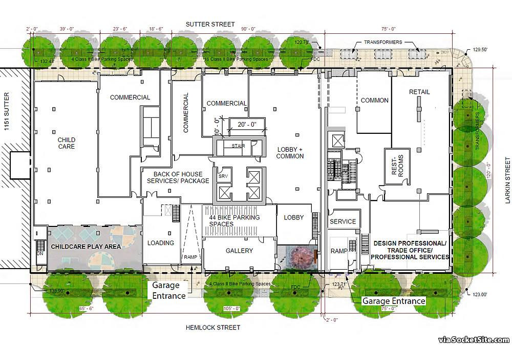 1101-1123 Sutter Street 2020 - Site Plan