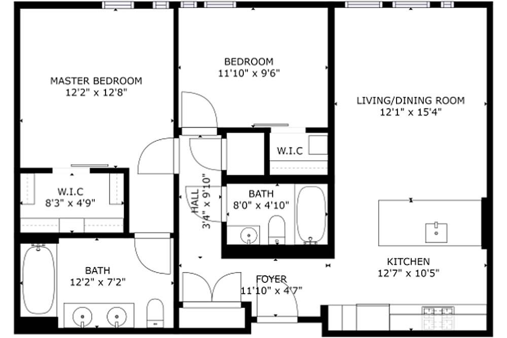 300 Ivey Street #502 - Floor Plan