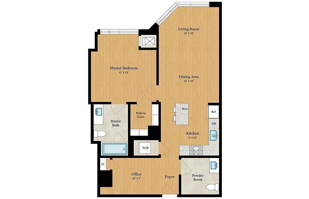333 Beale Street #4C - Floor Plan