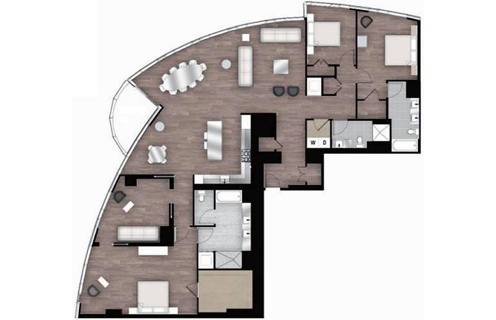 201 Folsom Street #39B - Floor Plan