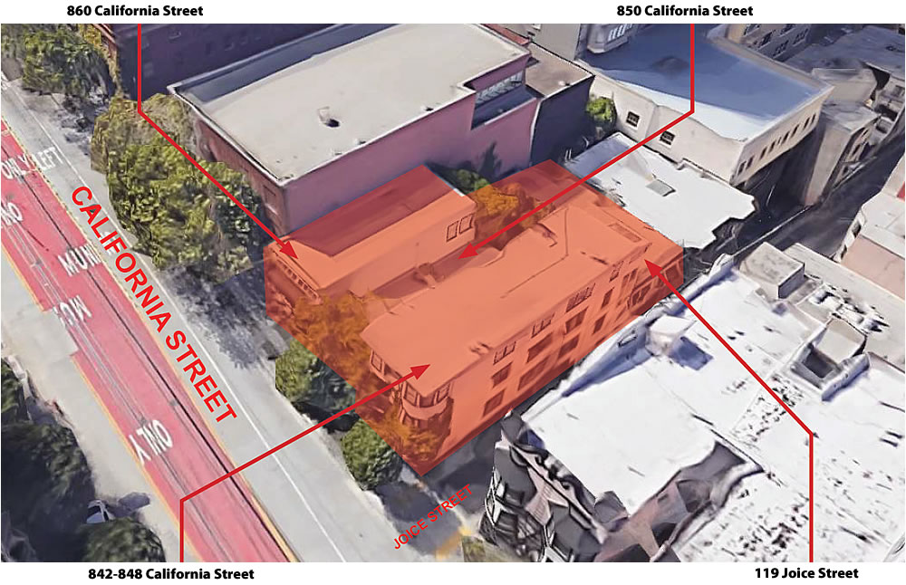 842 California Street Site - Aerial