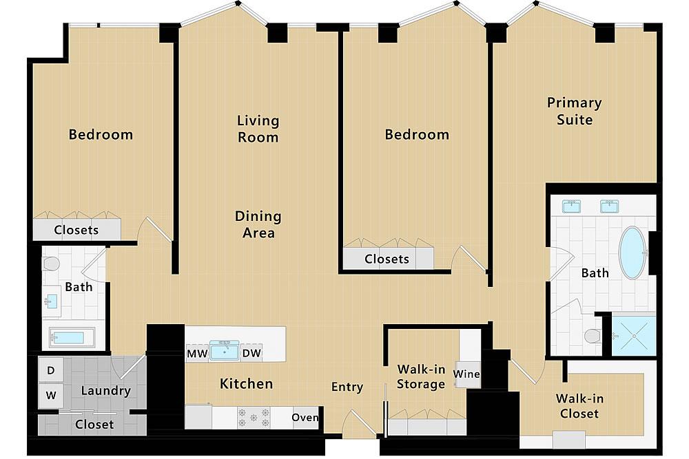 2121 Webster Street PH2 - Floor Plan