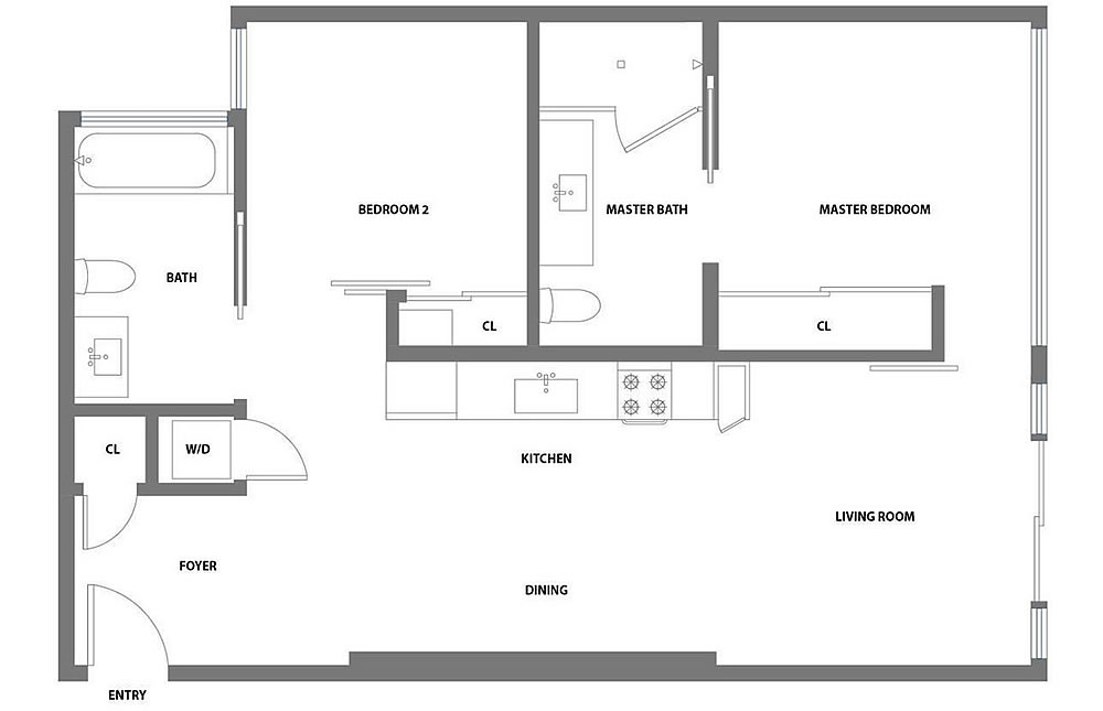 338 Potrero #404 - Floor Plan