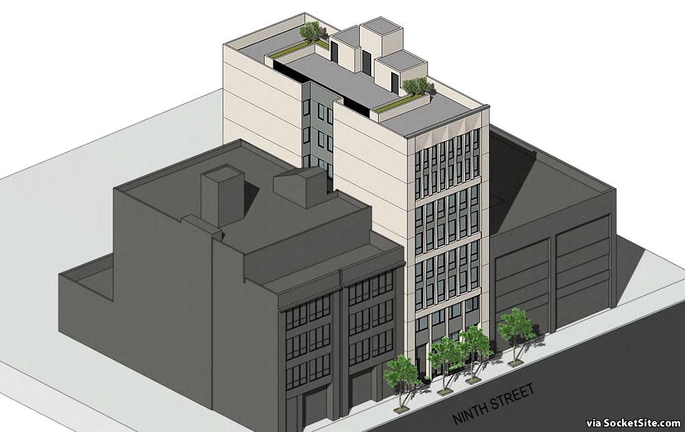 244 9th Street - Rendering - Aerial