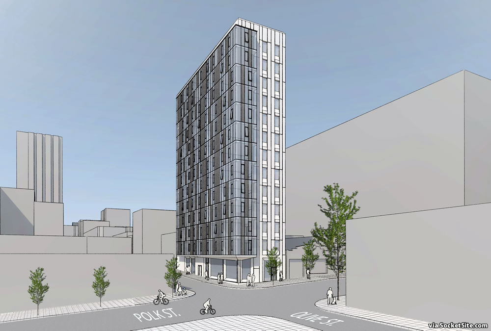 Problems for Skinny 13-Story Polk Gulch Building as Proposed