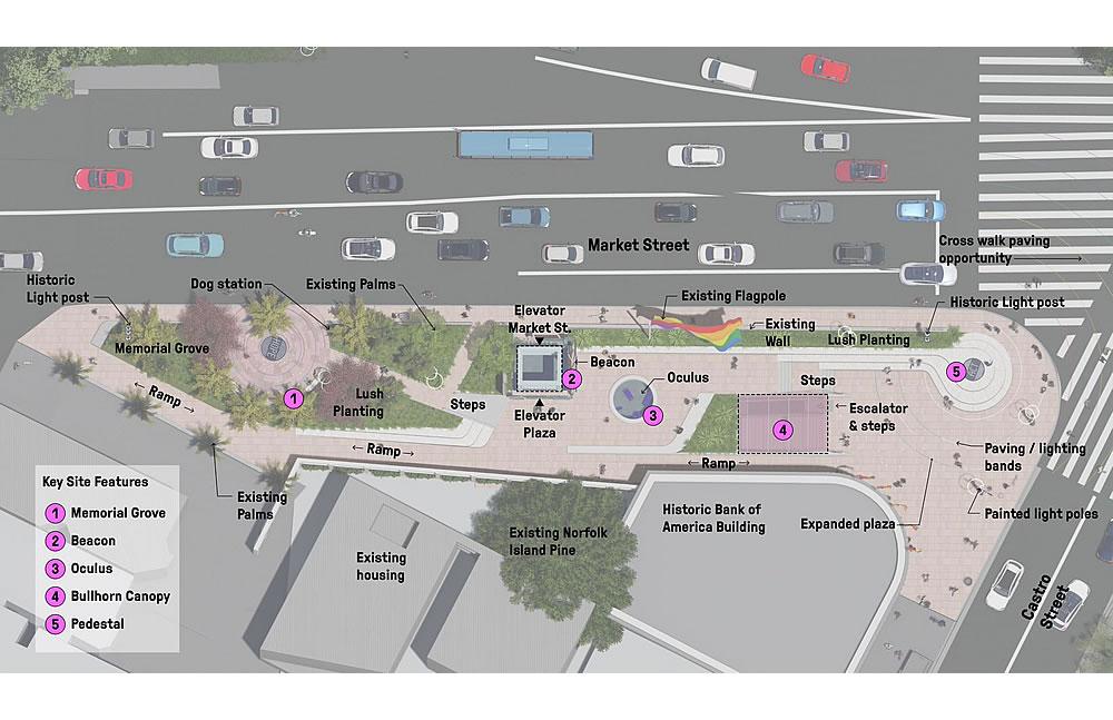 The Memorial at Harvey Milk Plaza Rendering - Site Plan