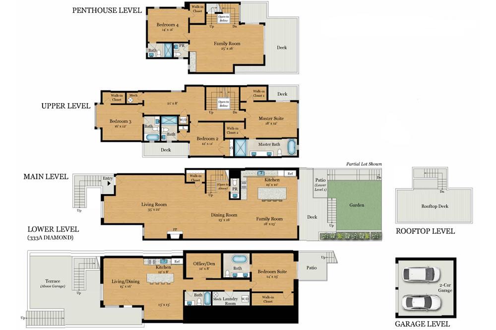 333 Diamond Street Floor Plan