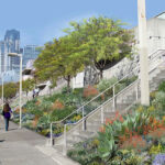 Relief for the Southern Perimeter of Yerba Buena Gardens