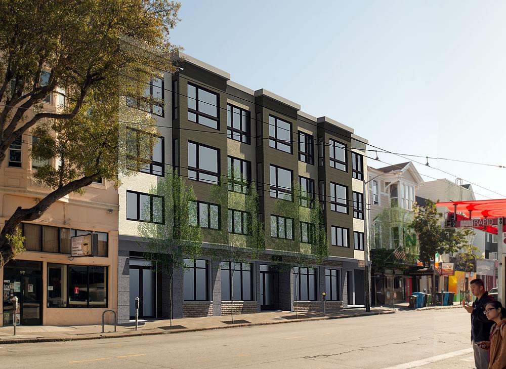 480 Haight Street Rendering 2021 - Reverse