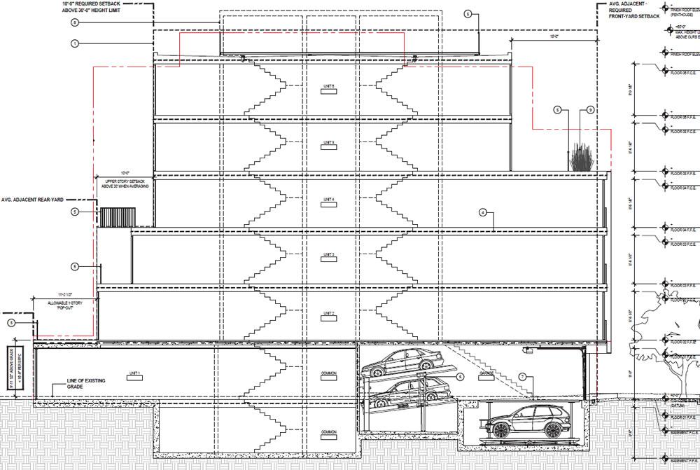 1728 Larkin Street Rendering - Section